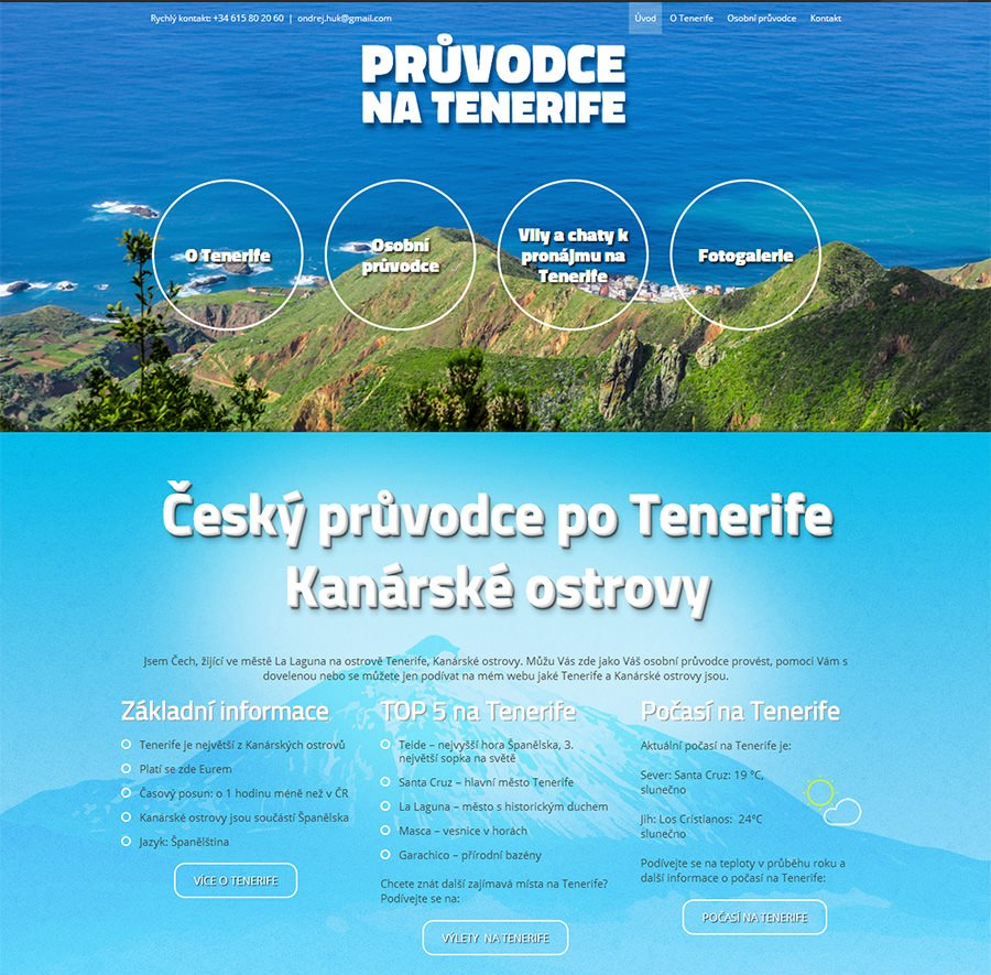 Website for Guide Guy in Tenerife, Canary Islands