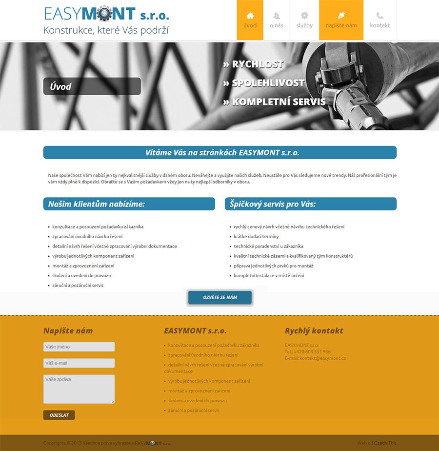 Webové stránky pro Easymont