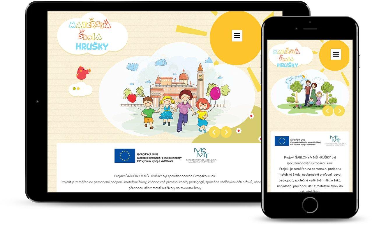 Webite for Kindergarten Hrusky 2
