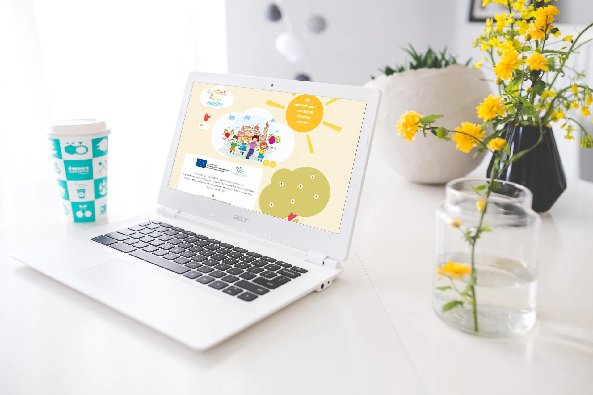 Webové stránky pro školku Hrušky 1