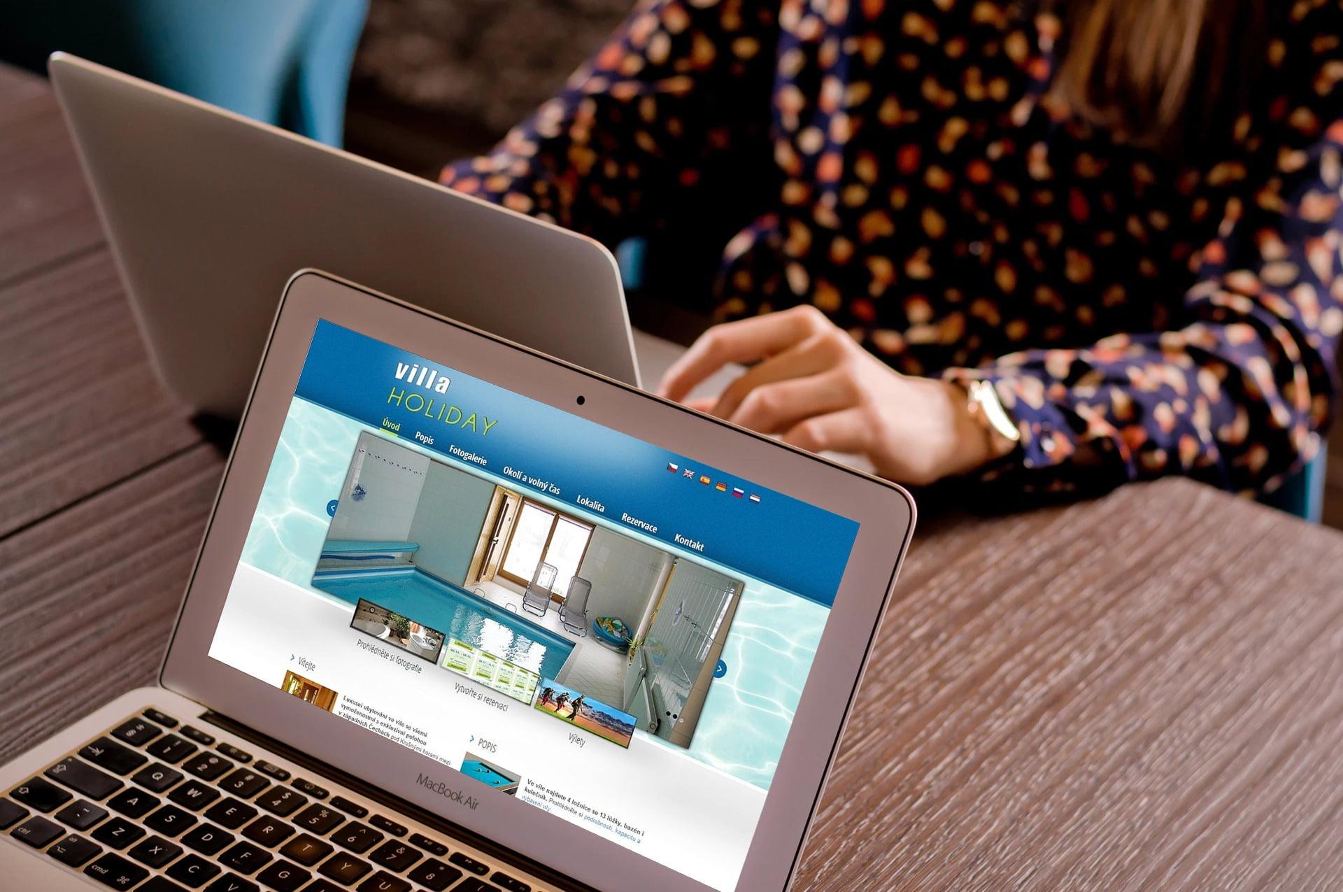 Web pro rezervaci vily Villa Holiday 1
