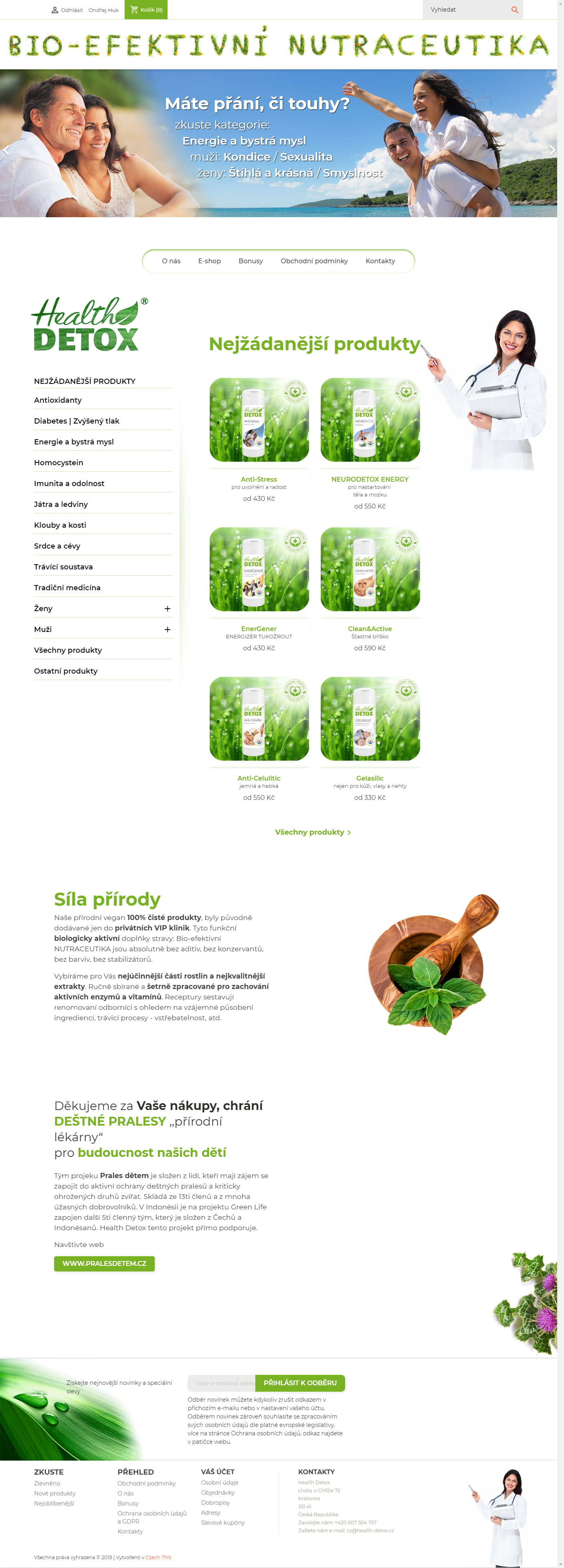 E-shop s Nutraceutikami Health Detox